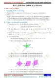 Chuyên đề 8: Phương pháp toạ độ trong không gian - Chủ đề 8.3