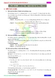 Chuyên đề 2: Các bài toán liên quán đến đồ thị hàm số - Chủ đề 2.3