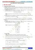 Chuyên đề 6: Toán ứng dụng - Chủ đề 6.1