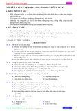 Chuyên đề 7: Hình học không gian - Chủ đề 7.1