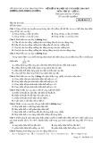 Đề kiểm tra HK1 môn Vật lí lớp 12 năm 2017 - THPT Phạm Văn Đồng - Mã đề 132