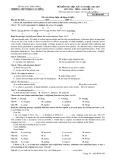 Đề kiểm tra HK1 môn tiếng Anh lớp 11 năm 2017 - THPT Phạm Văn Đồng - Mã đề 485