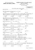 Đề kiểm tra HK1 môn Toán lớp 12 năm 2017 - THPT Phạm Văn Đồng - Mã đề 357