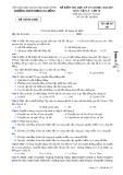 Đề kiểm tra HK1 môn Vật lí lớp 10 năm 2017 - THPT Phạm Văn Đồng - Mã đề 357
