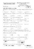 Đề kiểm tra HK2 môn Toán lớp 10 năm 2017 - THPT Phạm Văn Đồng - Mã đề 485