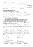 Đề thi HK2 môn Vật lí lớp 10 năm 2017 - THPT Phạm Văn Đồng - Mã đề 483