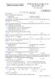 Đề kiểm tra HK1 môn Hóahọc lớp 11 năm 2017 - THPT Phạm Văn Đồng - Mã đề 132