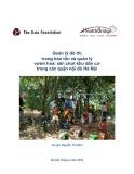 Báo cáo Quản lý đô thị trong bảo tồn và quản lý vườn hoa/ sân chơi khu dân cư trong các quận nội đô Hà Nội
