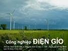 Bài giảng Công nghiệp điện gió