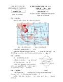 Đề thi HSG lớp 9 môn Địa lý năm 2014-2015 - Phòng GD&ĐT Lai Vung