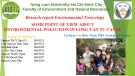 Reseach report Environmental Toxicology: Some point of view about  environmental pollution in long van tu canal
