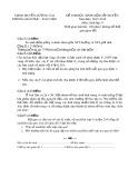 Đề thi HSG cấp huyện đợt 1 môn Sinhhọc lớp 9 năm 2015-2016 - Phòng GD&ĐT Lương Tài - Đề số 8