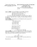 Đề thi HSG cấp huyện đợt 1 môn Ngữ văn lớp 9 năm 2015-2016 - Phòng GD&ĐT Lương Tài - Đề số 6