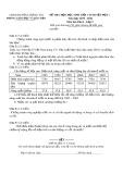 Đề thi HSG cấp huyện đợt 1 môn Địalý lớp 9 năm 2015-2016 - Phòng GD&ĐT Lương Tài - Đề số 11