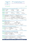 Đề KTCL ôn thi THPT Quốc gia năm 2017 môn tiếng Anh - THPT Liễn Sơn - Đề số 65