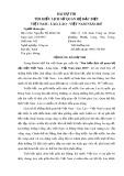 Bài dự thi: Tìm hiểu lịch sử quan hệ đặc biệt Việt Nam - Lào, Lào - Việt Nam năm 2017 - Nguyễn Thị Minh Tin