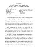 Bài dự thi: Tìm hiểu lịch sử quan hệ đặc biệt Việt Nam - Lào, Lào - Việt Nam năm 2017 - Nguyễn Phúc Vinh