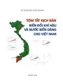 Tóm tắt kịch bản biến đổi khí hậu và nước biển dâng cho Việt Nam