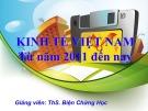 Bài giảng Kinh tế Việt Nam từ năm 2011 đến nay - ThS. Biện Chứng Học