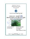Luận văn: Khảo sát – Nghiên cứu phương pháp tách Phycocyanin trong tảo Spirulina