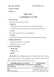 Giáo án Sinh học lớp 10 bài 4