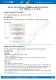 Giải bài Thiết kế và bản vẽ kĩ thuật SGK Công nghệ 11
