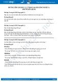 Giải bài Bản vẽ xây dựng SGK Công nghệ 11