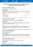 Giải bài Tự động hóa trong chế tạo cơ khí SGK Công nghệ 11