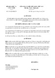 Quyết định số 1391/QĐ-BKHCN