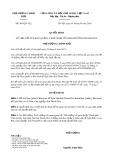 Quyết định số 983/QĐ-TTg