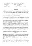 Quyết định số 1591/QĐ-UBND