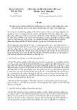 Chỉ thị số 09/CT-UBND của tỉnh Hà Tĩnh