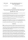 Quyết định số 1244/QĐ-BTC