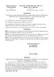 Quyết định số 1816/QĐ-UBND tỉnh Bình Định
