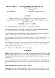 Quyết định số 2163/QĐ-BCT