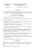 Quyết định số 744/QĐ-UBND tỉnh Điện Biên