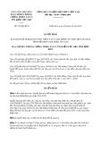 Quyết định số 743/QĐ-BCH