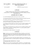 Quyết định số 2161/QĐ-BCT