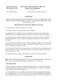Quyết định số 1226/QĐ-UBND