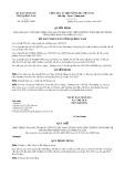 Quyết định số 1903/QĐ-UBND