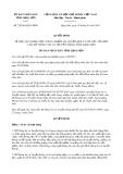 Quyết định số 25/2016/QĐ-UBND tỉnh Lạng Sơn