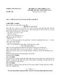 Đề khảo sát chất lượng lần 3 môn Ngữ văn lớp 10 năm 2017 - THPT Đồng Đầu - Mã đề 208