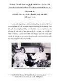 Bài dự thi: Tìm hiểu lịch sử quan hệ đặc biệt Việt Nam - Lào, Lào - Việt Nam - Hoàng Thị Nhật Hà