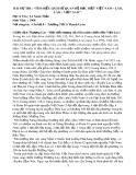 Bài dự thi: Tìm hiểu lịch sử quan hệ đặc biệt Việt Nam - Lào, Lào - Việt Nam - Lê Xuân Thảo