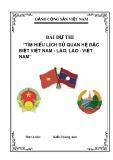 Bài dự thi: Tìm hiểu lịch sử quan hệ đặc biệt Việt Nam - Lào, Lào - Việt Nam - Kiều Hoàng Anh