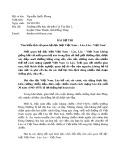 Bài dự thi: Tìm hiểu lịch sử quan hệ đặc biệt Việt Nam - Lào, Lào - Việt Nam - Nguyễn Quốc Phong