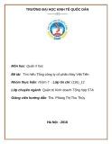 Bài tập nhóm: Tìm hiểu Tổng công ty cổ phần May Việt Tiến
