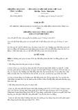 Nghị quyết số 05/2017/NQ-HĐND Tỉnh Cao Bằng