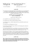 Nghị quyết số 01/2017/NQ-HĐND Thành Phố Hà Nội