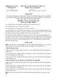 Nghị quyết số 04/2017/NQ-HĐND Tỉnh Bạc Liêu